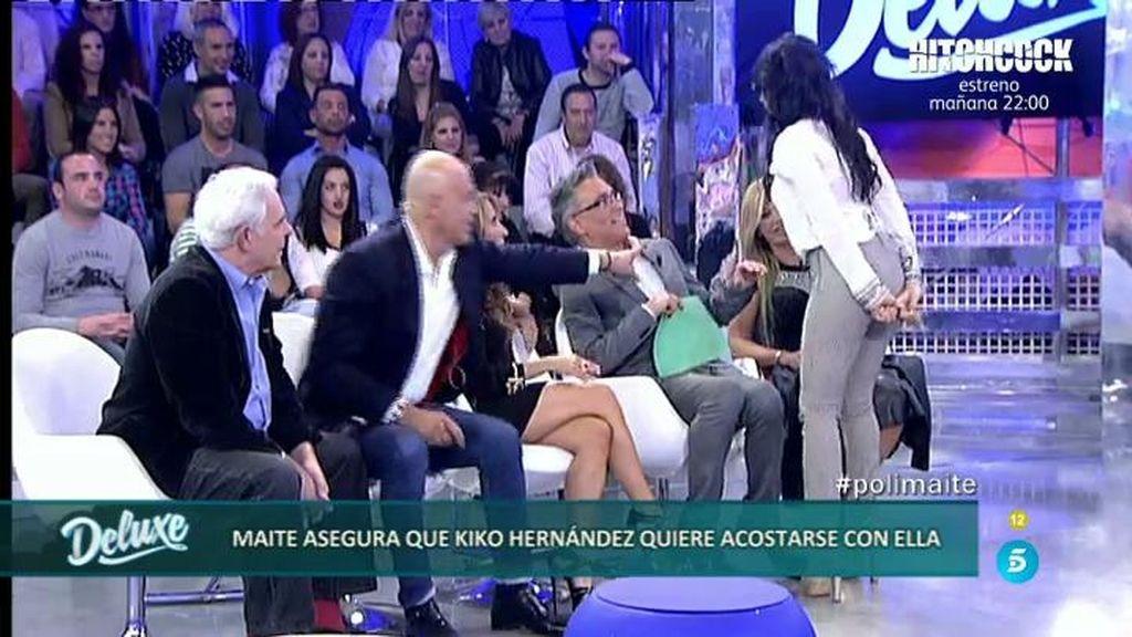 """Maite Galdeano, a Kiko Hernández tras negar que se insinuó: """"Si te doy pan, te lo comes"""""""