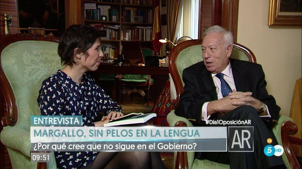 """García-Margallo: """"Nunca pensé en suceder a Rajoy, fue una campaña de infamia"""""""