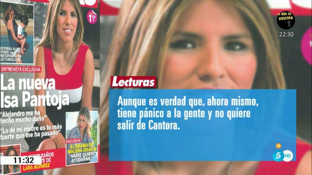 """Isa Pantoja: """"Mi madre tiene pánico a la gente y no quiere salir de Cantora"""""""