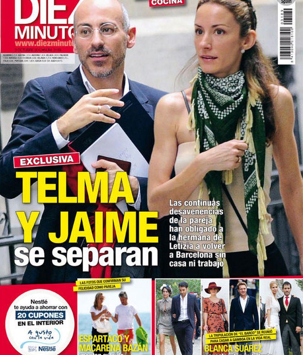 Telma Ortiz, Jaime del Burgo, separacion