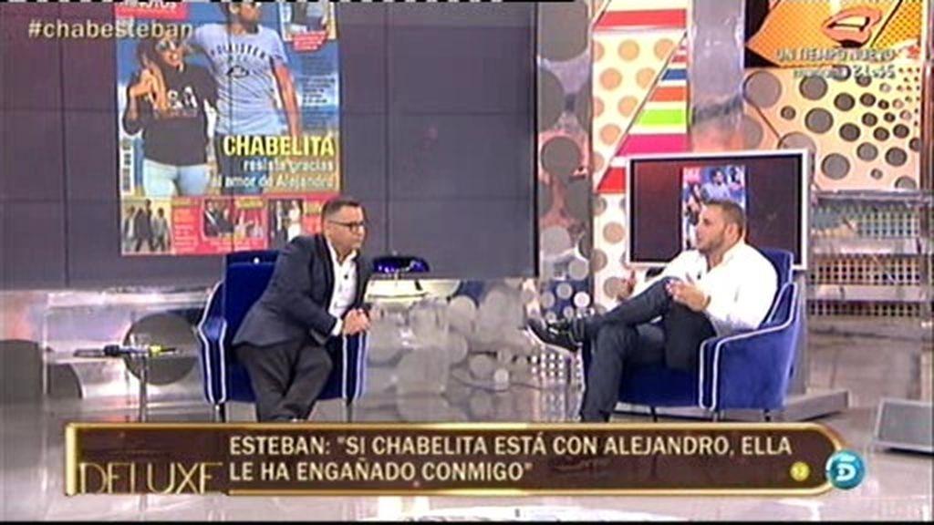 """Esteban: """"Si Chabelita está con Alejandro, le ha engañado conmigo"""""""