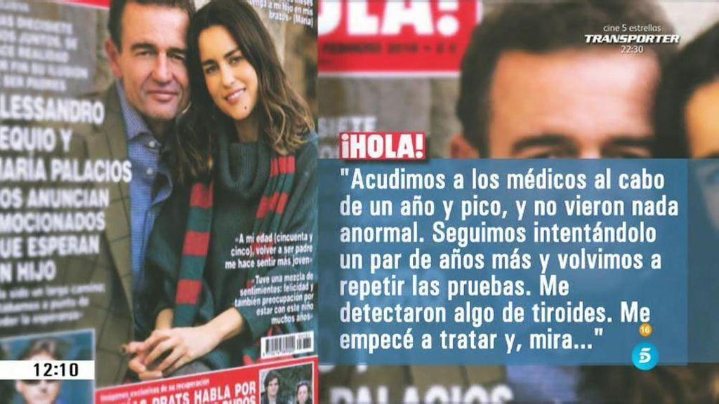 Alessandro Lequio y María Palacios esperan su primer hijo