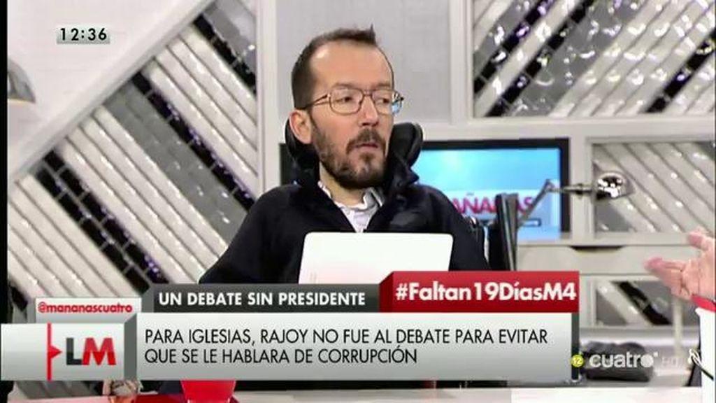 """Echenique, de Rajoy: """"Las excusas no valen"""""""