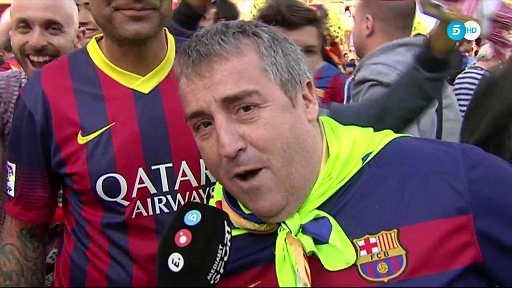 """La afición del Barcelona, muy confiada: """"Puede pasar dos cosas, que gane el Barcelona o que pierda el Sevilla"""""""