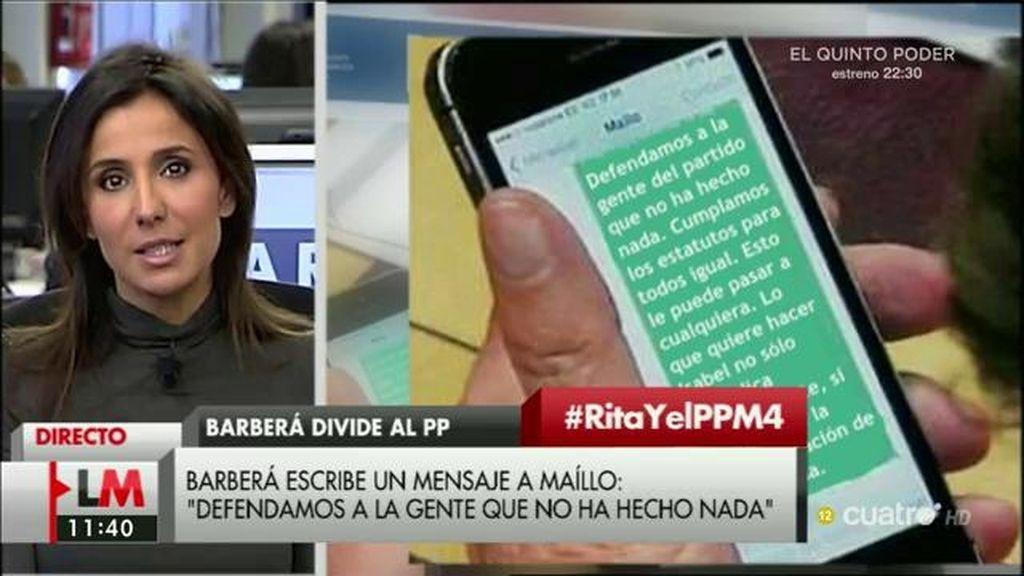 """Carmen Morodo, del sms de Barberá a Maíllo: """"Es un mensaje de presión"""""""