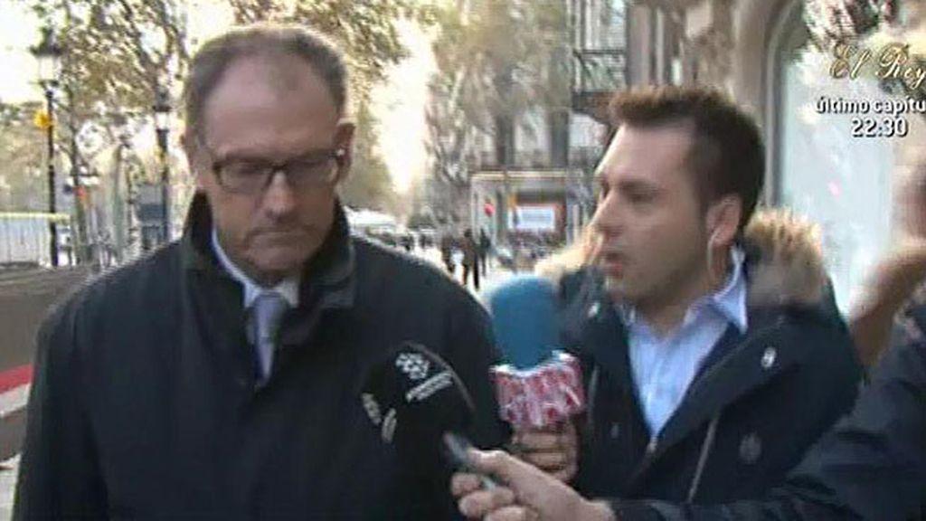 Mario Pascual Vives, abogado de Urdangarin, no responde a la prensa