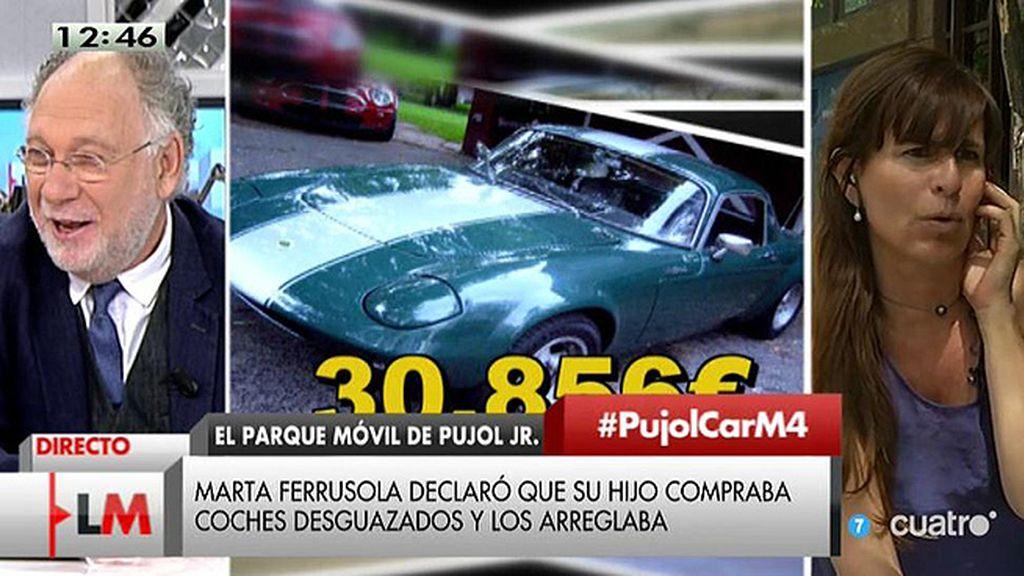 """V. Álvarez, de Pujol Jr.: """"Se pegó una castaña con el Porsche bajando de Andorra y se quedó ahí el coche"""""""