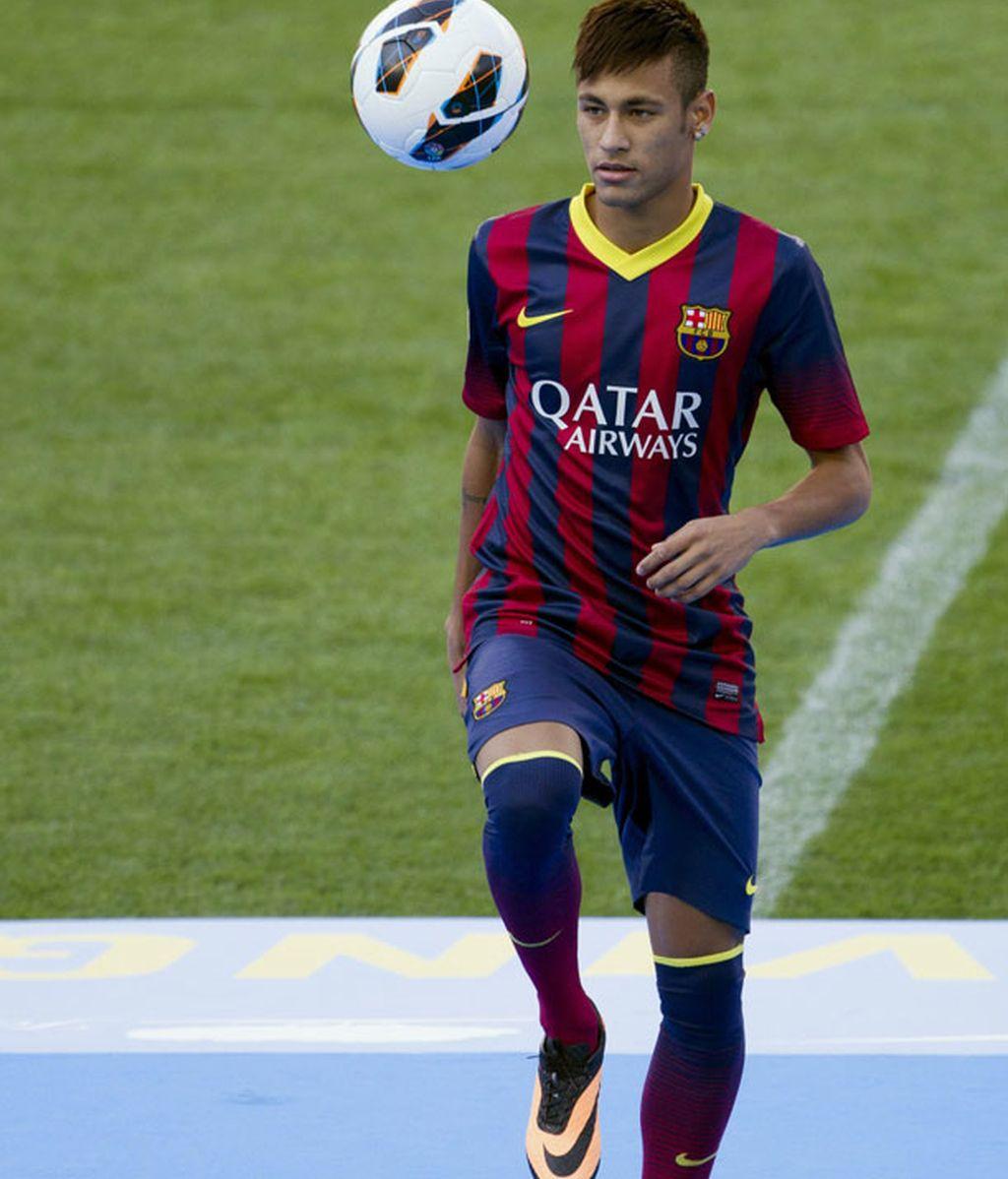 Neymar, presentado como jugador del Barcelona