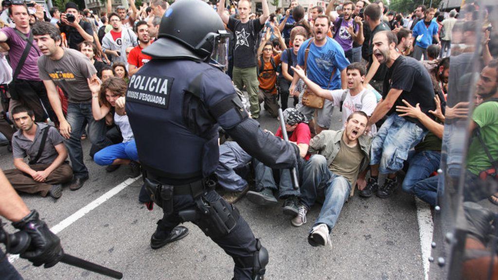mossos, antidisturbios