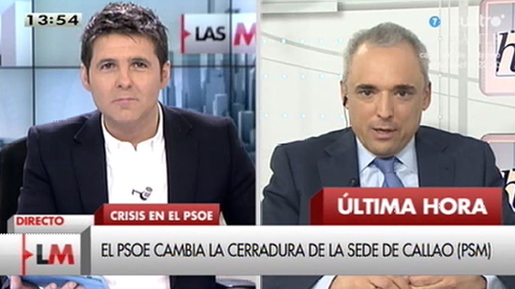 """""""Si todo el mundo decía que íbamos a tener un mal resultado en Madrid, no se puede criticar a pedro Sánchez por hacer algo"""""""