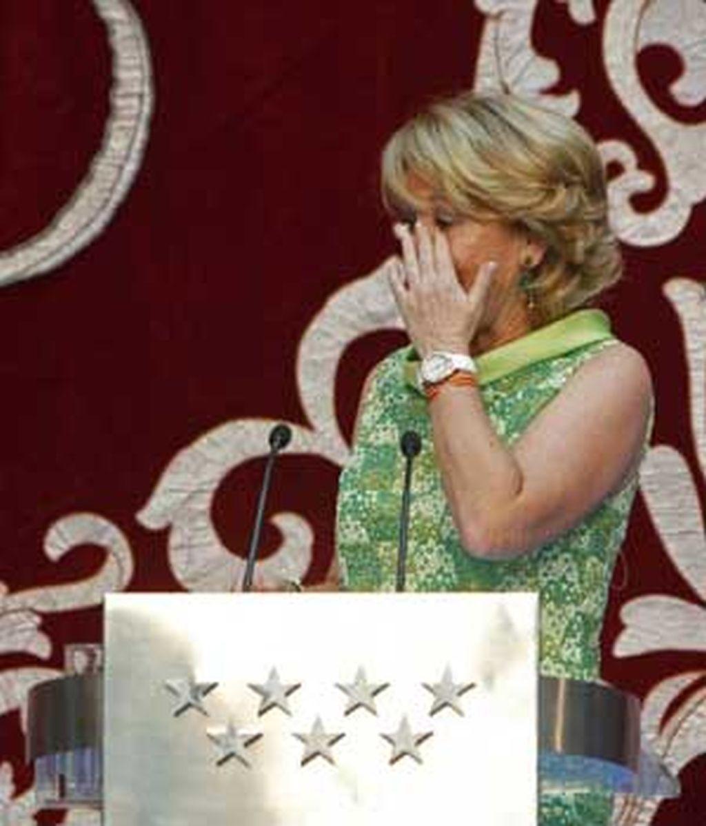 Esperanza Aguirre, durante la toma de posesión del nuevo Gobierno. Foto: EFE