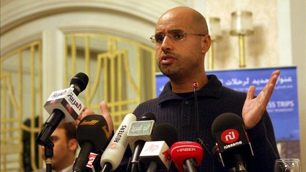 En la imagen, Saif al-Islam, hijo del dirigente libio Muamar el Gadafi. EFE/Archivo