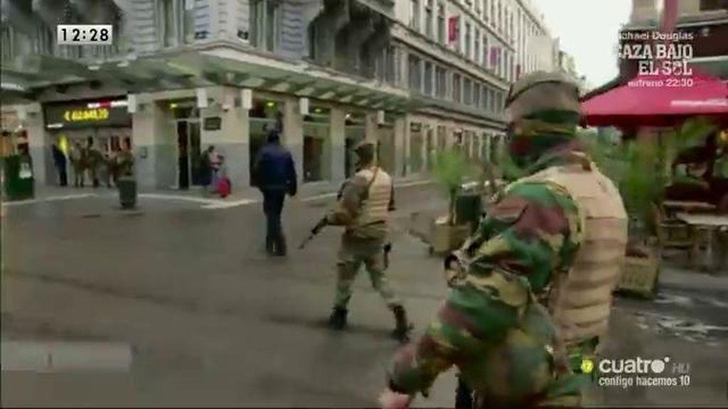 El ejército toma las calles de Bruselas