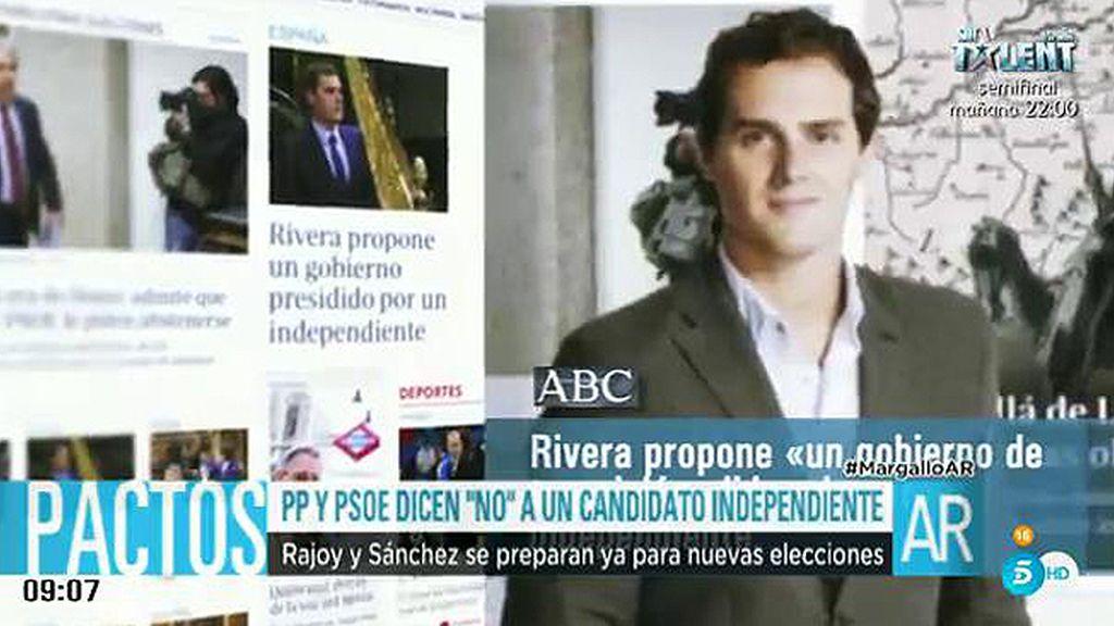 PP y PSOE rechazan la propuesta hecha por Albert Rivera en el plató de 'AR'