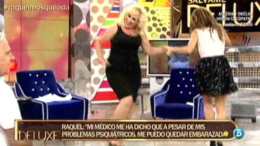 Raquel Mosquera demuestra bailando el feliz momento por el que atraviesa