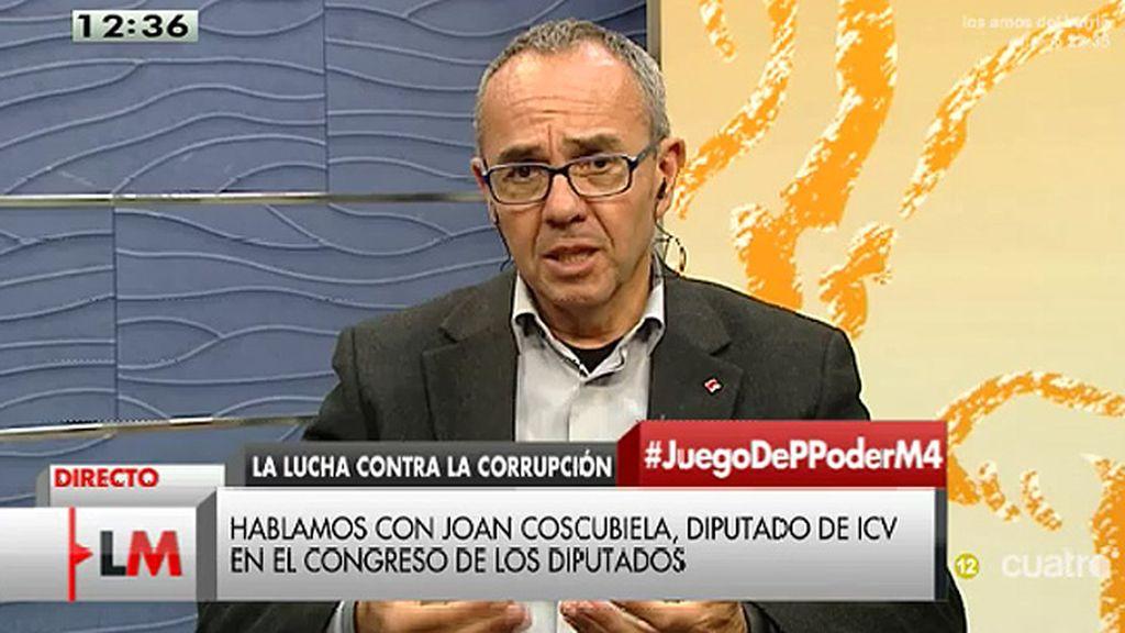 """J. Coscubiela: """"El problema está en el señor 'X' de la corrupción, el señor Rajoy"""""""