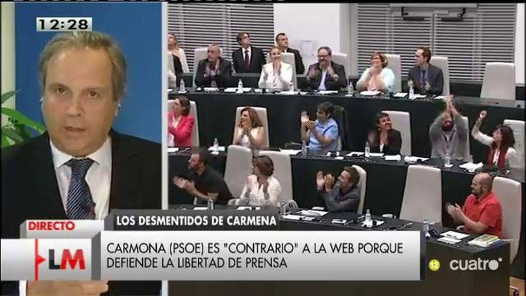 """Carmona: """"Carmena me llamó y habrá un encuentro para modificar la web"""""""
