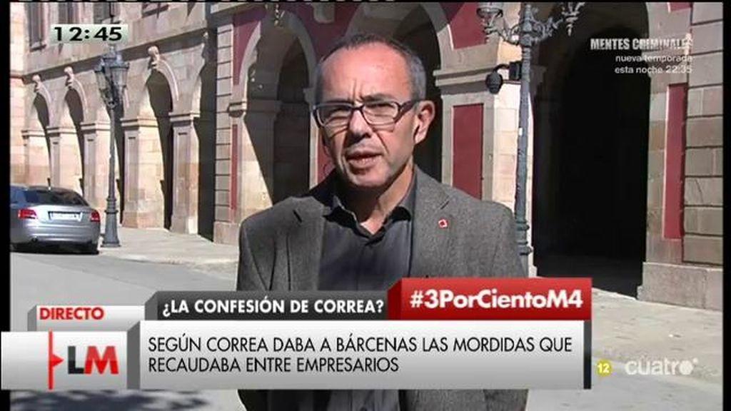 """Coscubiela: """"No vamos a ni tolerar que el señor Mas sea presidente de la Generalitat"""""""
