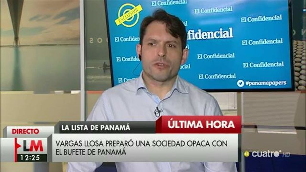 """E. Segovia, periodista de 'El confidencial': """"Vargas Llosa y su exmujer iban a crear una sociedad en las Islas Vírgenes"""""""