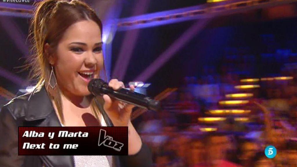 La actuación de Alba y Marta