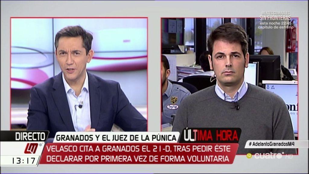 """José Mª Olmo: """"Granados cree que lo que va a contar es muy relevante"""""""