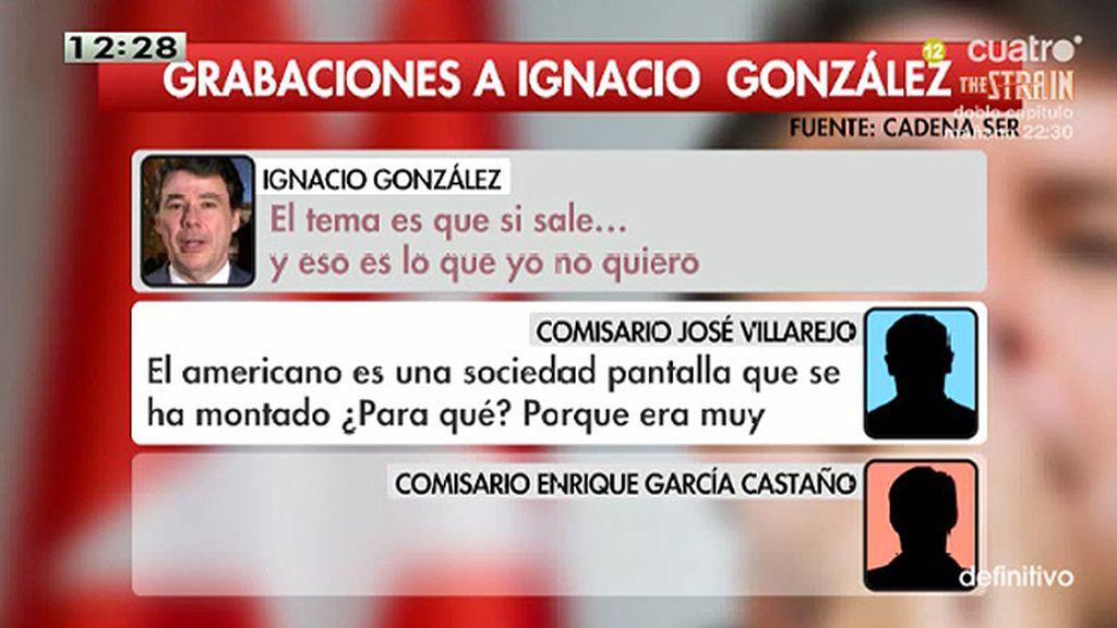 """I. González, a uno de los comisarios: """"El tema es que si sale… y eso es lo que yo no quiero"""""""