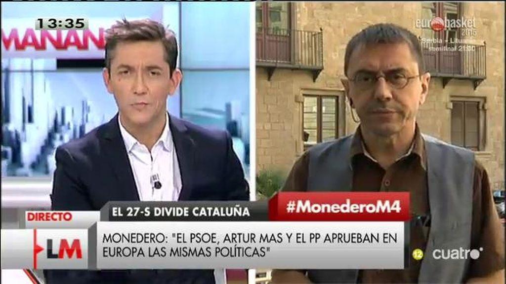"""Juan Carlos Monedero: """"Veo a Pedro Sánchez como pollo sin cabeza"""""""