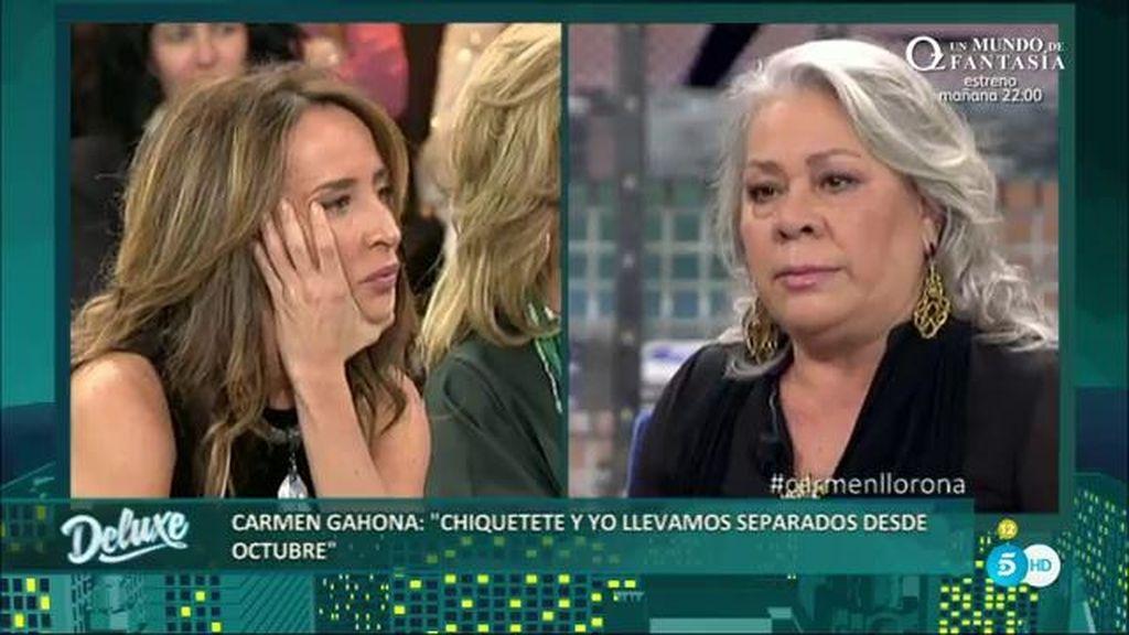 Carmen Gahona asegura que quiere volver con Chiquetete pero con tranquilidad