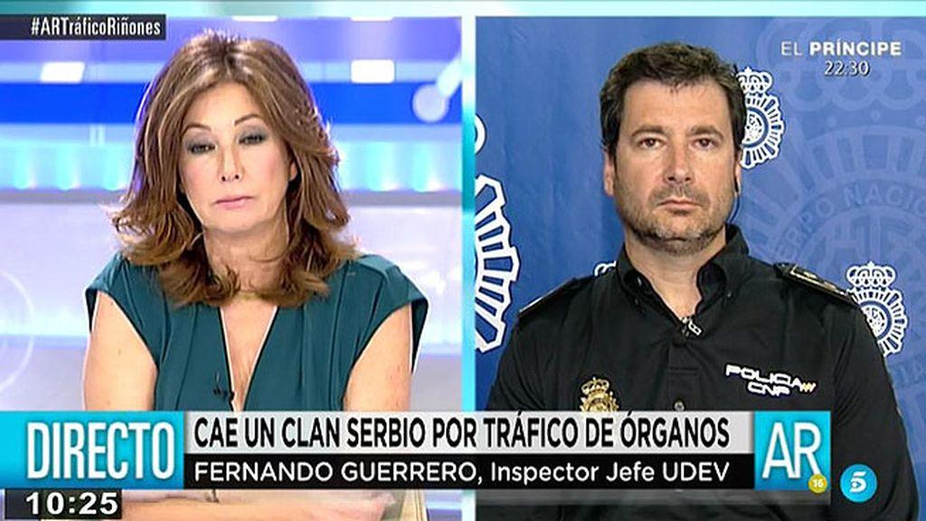 """Inspector Jefe UDEV: """"Se investigaba una organización criminal y en esa investigacion surge lo de la compra del riñón"""""""