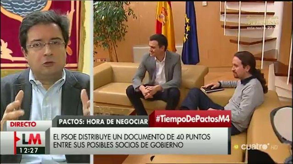 """Óscar López: """"El PSOE ha hecho más en cinco días que Rajoy en cinco años"""""""