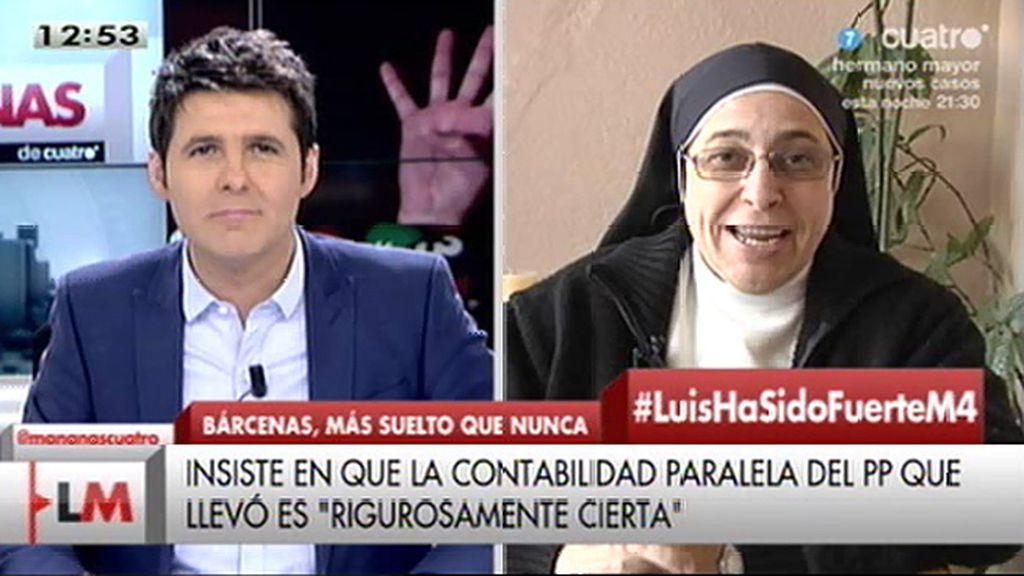 """Sor Lucía Caram, de Bárcenas: """"Creo que empieza el momento de la traición"""""""