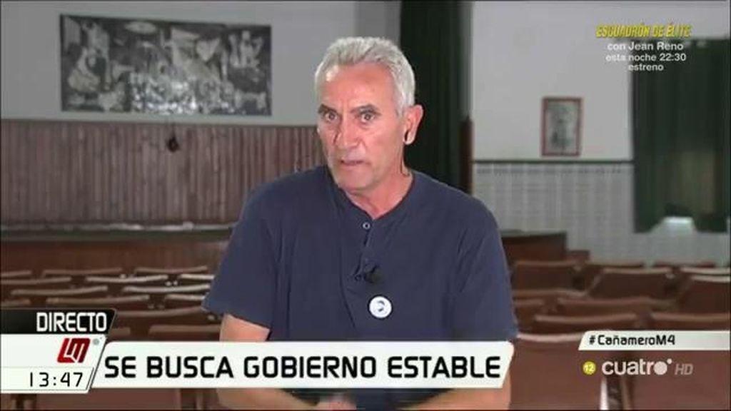 """Diego Cañamero: """"No me he puesto un traje nunca, llevo mi camisa con mucha decencia"""""""