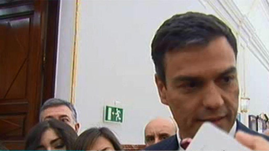 """Pedro Sánchez: """"El PSOE tiene la determinción de gobernar el cambio"""""""