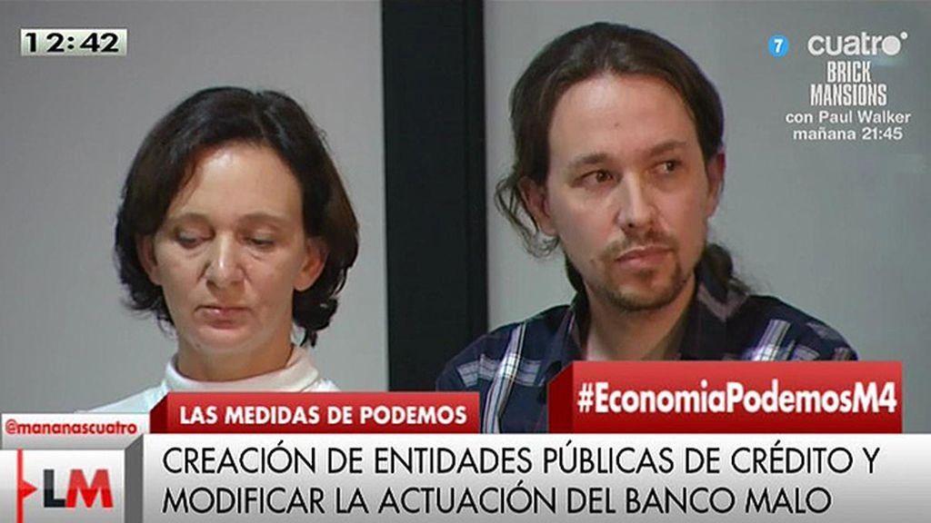 La propuesta económica de Podemos: Reestructuración la deuda, jornada de 35 horas...