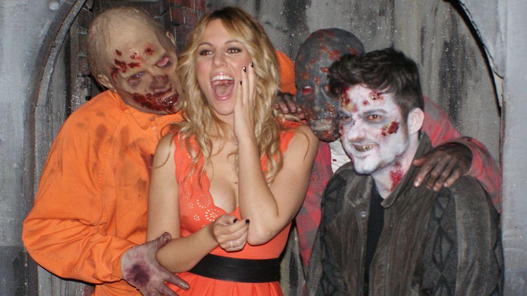 Gritos, zombies y sangre... Así fue la mañana más terrorífica de Xavi Rodríguez y Edurne