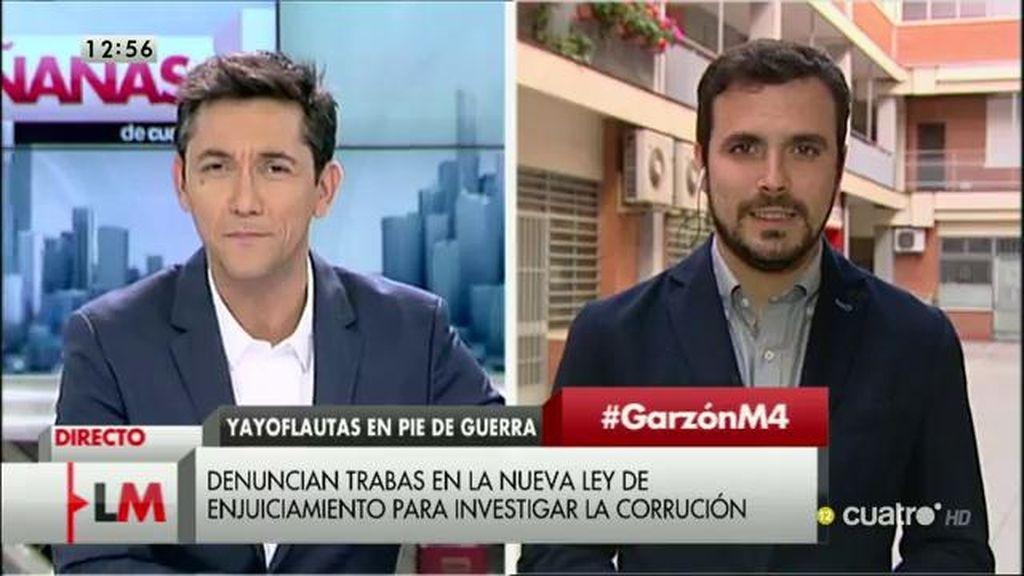 """Alberto Garzón: """"En redes ganamos los debates a los que no nos invitan"""""""