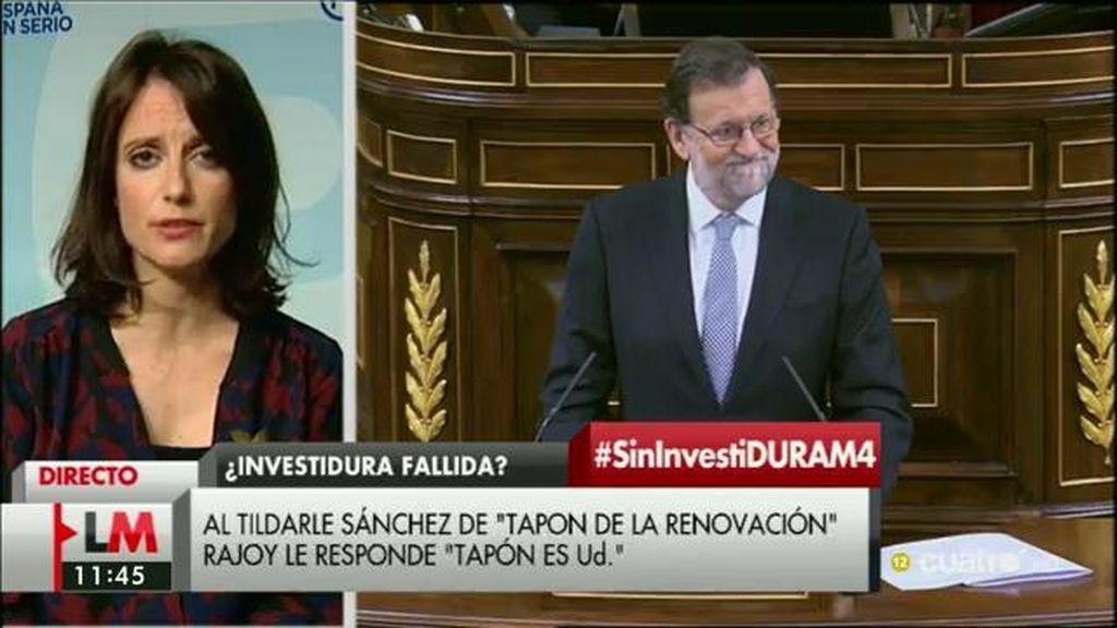 """Andrea Levy: """"No está encima de la mesa el debate de que Rajoy se deba apartar"""""""
