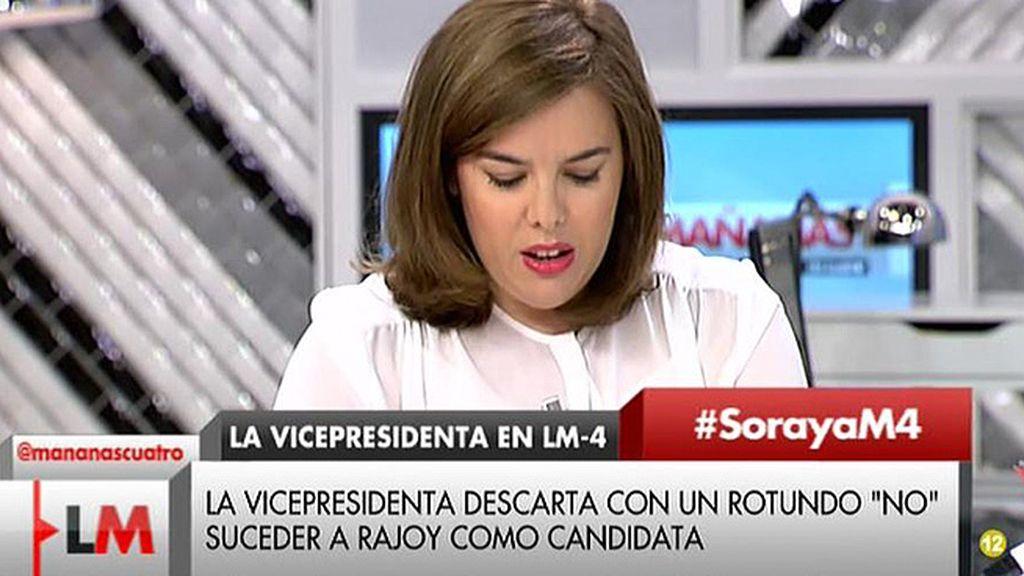 """Santamaría descarta suceder a Rajoy: """"Él va a ser el próximo presidente del gobierno"""""""