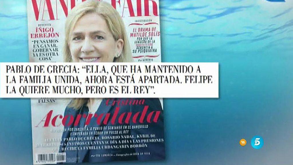 """Cristina Fernández, amiga de la Infanta Cristina: """"Cuando nos compramos una casa, le explicamos qué era una hipoteca"""""""