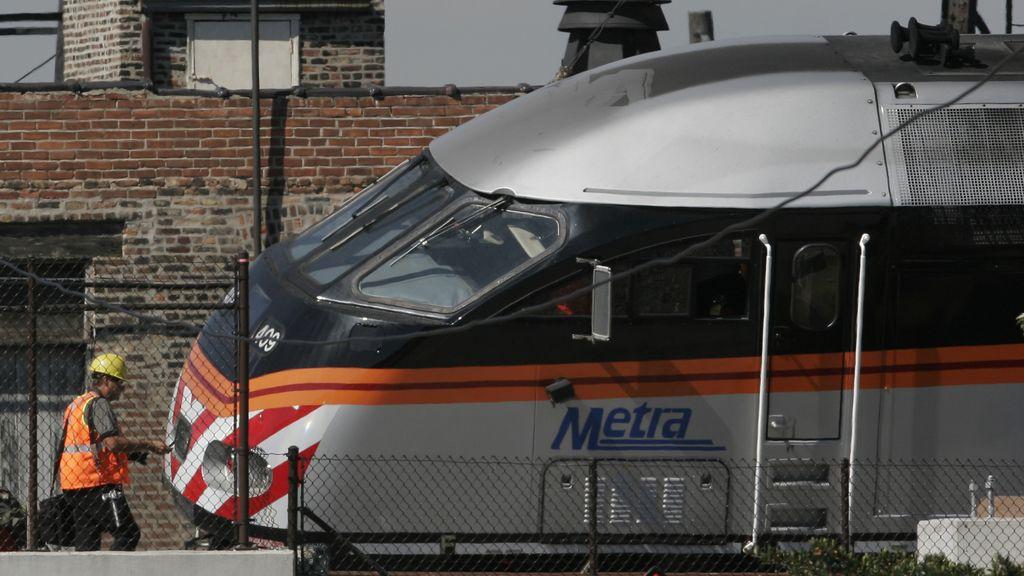 Un vagón del metro de Chicago (Illinois, EEUU)