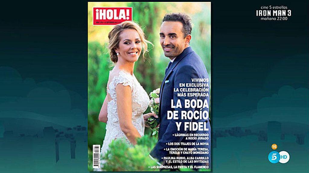 El 'Deluxe' desvela la portada de 'Hola' con la foto de Rocío Carrasco y Fidel Albiac
