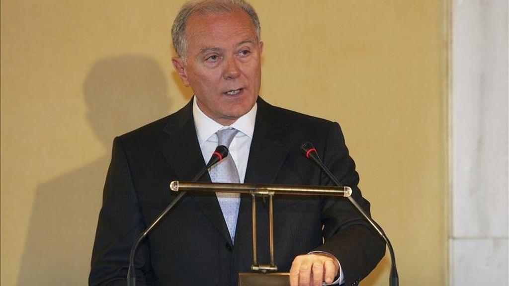 El gobernador del Banco Central de Grecia, George Provopoulos. EFE/Archivo