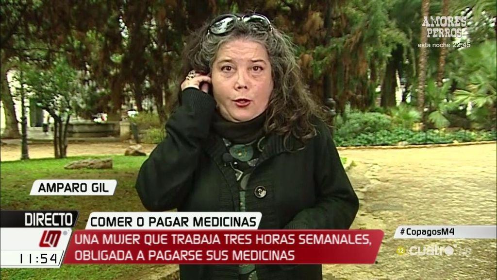 Con un sueldo de 70€, Amparo pierde la subvención de medicamentos
