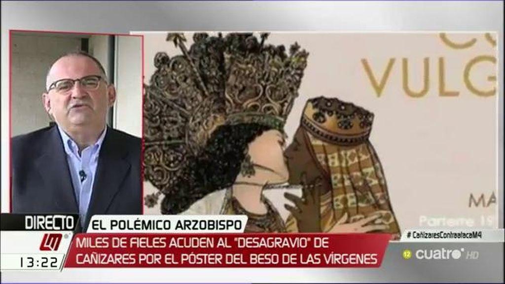 """Antón Losada, ante la polémica sobre el cartel de las vírgenes: """"Estoy a favor del cartel, a favor de que la gente se bese"""""""