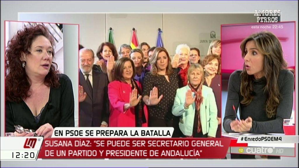 """Carmen Morodo, de Susana Díaz: """"Ella está decidida a intentar liderar el PSOE"""""""