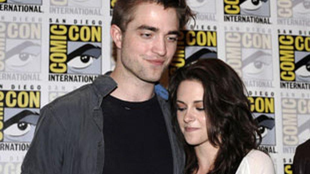Robert Pattinson y Kristen Stewart en una de sus últimas apariciones públicas este verano. Foto: Gtres