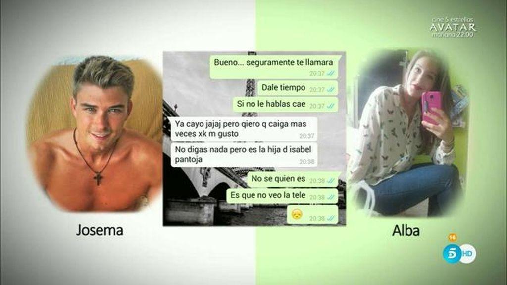 Los mensajes que demuestran que Isa Pantoja y Josema han tenido una relación