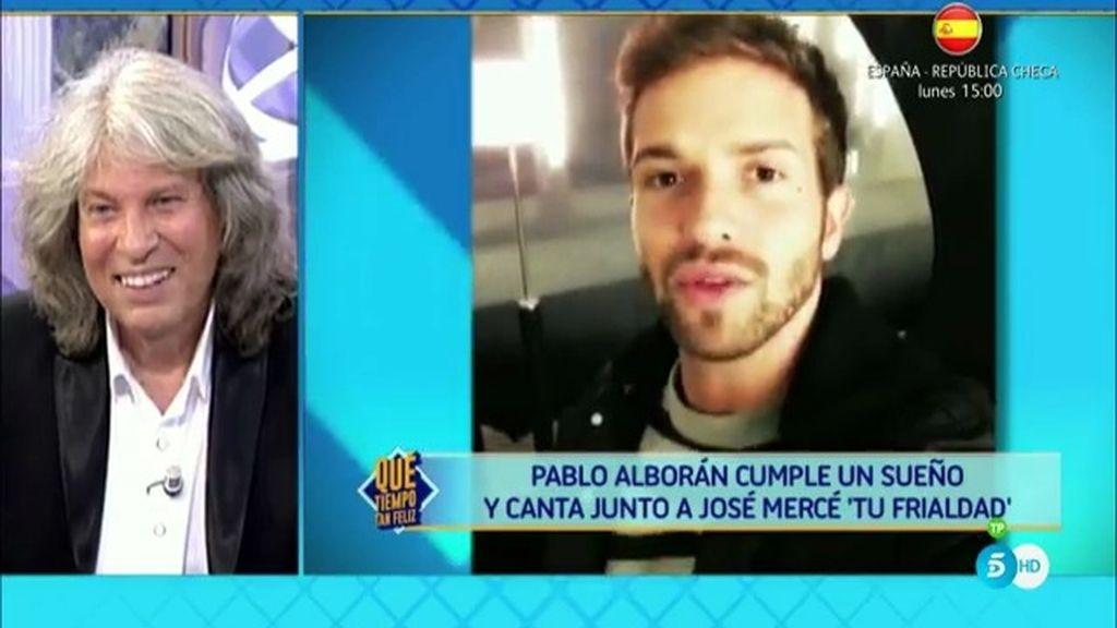 Alejandro Sanz, Pablo Alborán y Vanesa Martín sorprenden a José Mercé