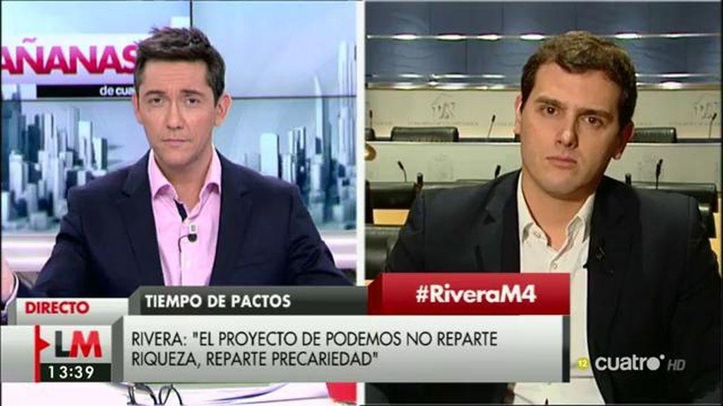 """Rivera: """"Si la economía española está en manos de Podemos votaremos no"""""""