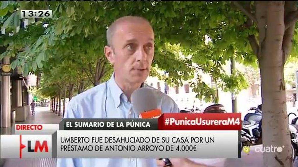 Umberto Jiménez fue desahuciado por un préstamo de 4.000 euros